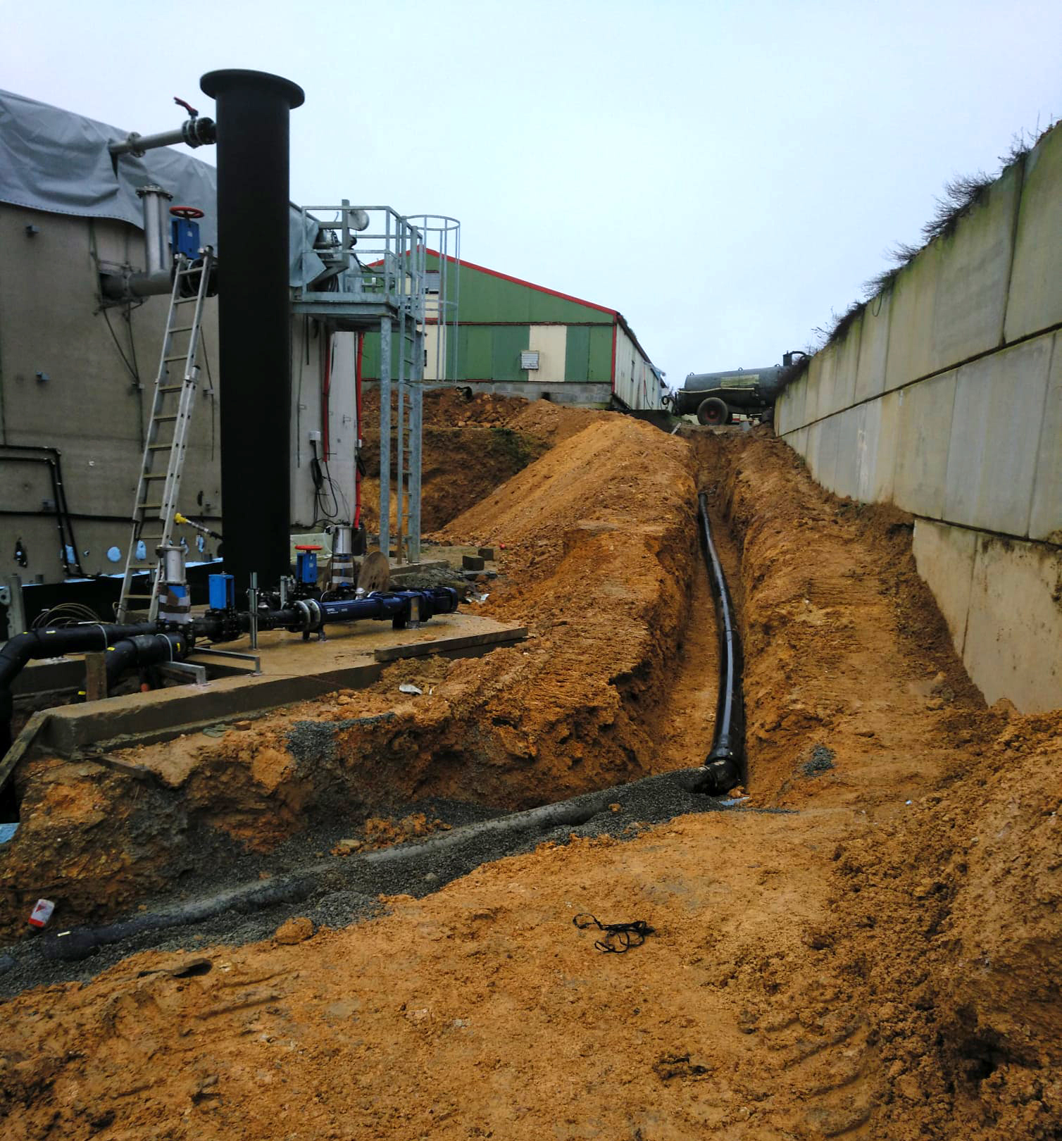 PlantaBiogás LAP Biogaz-EnviTec-Tubería enterrada01