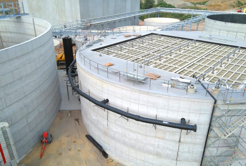 Planta de Tratamiento de Aguas Nazareth-Vista general
