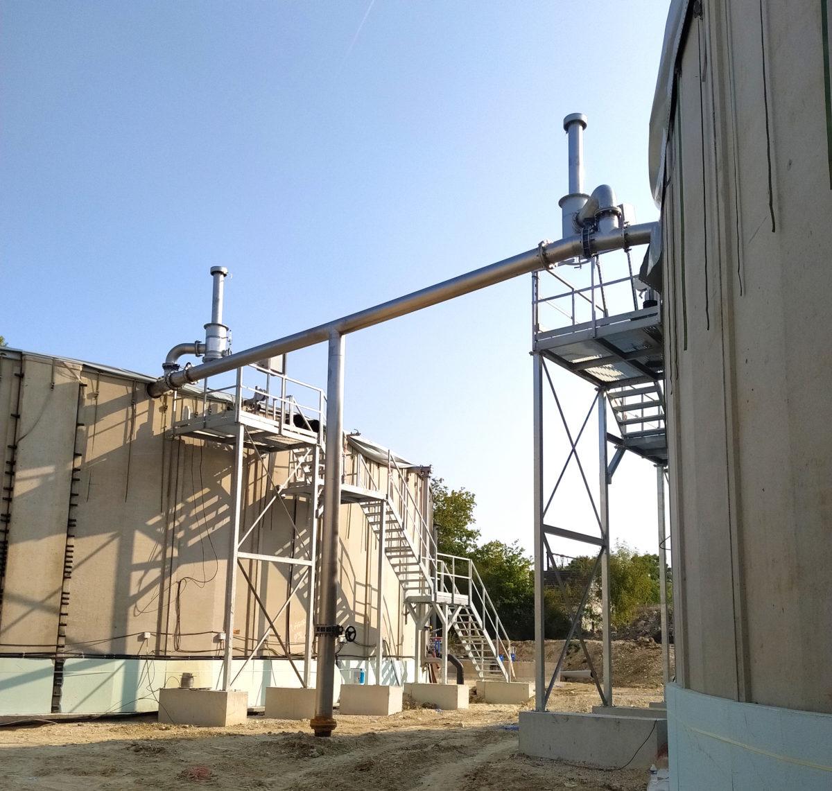 Sologne Biogas Plant INDEREN INDEREN Planta Biogás Sologne-Trabajos acero inoxidable01V2