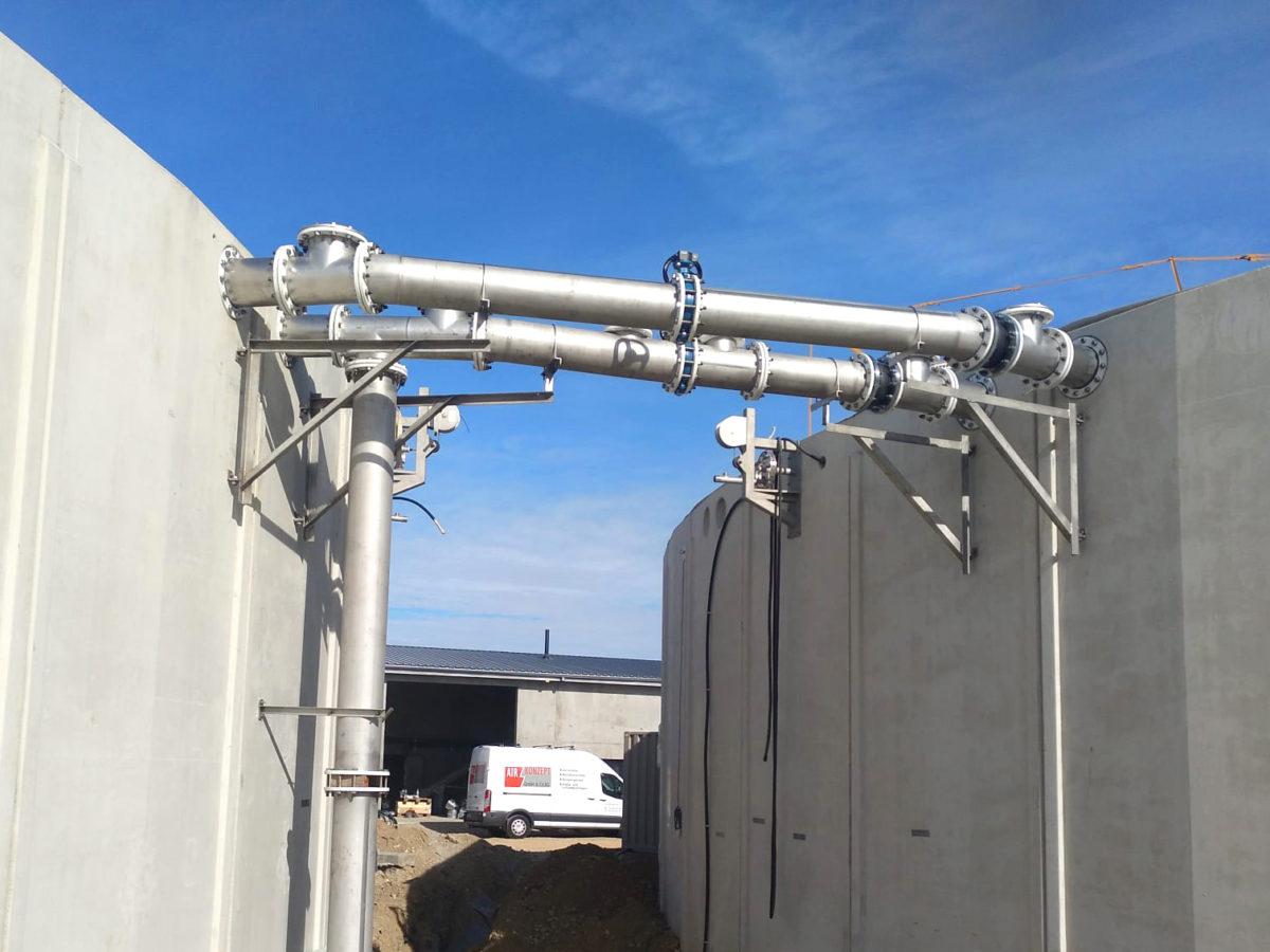 Biogas Metha Val Saone - Planta Biogás Metha Val de Saone INDEREN-Acero Inoxidable-Gas equalization pipes02